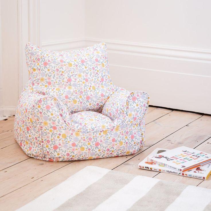 Floral Bean Bag Chair   JoJo Maman Bébé