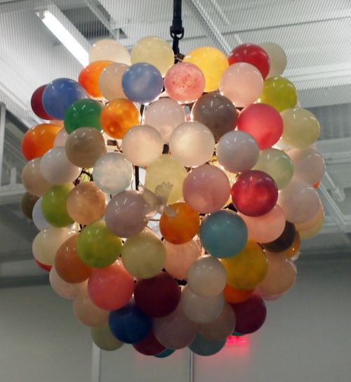 78 images about communion party on pinterest pina for Balloon chandelier decoration