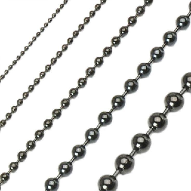 Men Etan rock ball black chains - Spikes