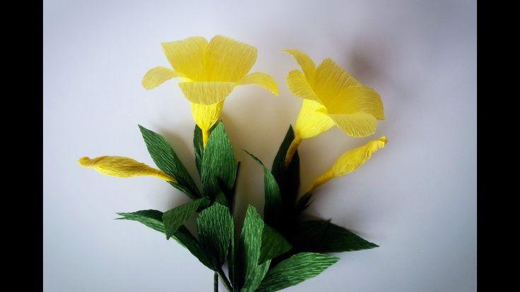 How To Make Allamanda flowers From Crepe Paper - Craft Tutorial