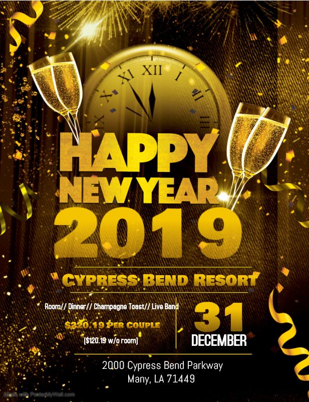 New Year's Eve with Cypress Bend Resort Party invite
