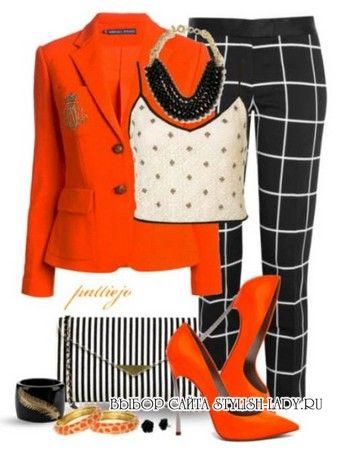 С чем носить оранжевый кардиган, кофту, свитер, водолазку, жакет? Фото