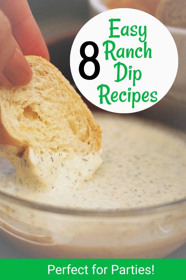 Easy Ranch Dip Recipes - Bacon ranch dip, homemade ranch dip, jalapeno ranch dip, fiesta ranch dip, buffalo chicken ranch dip, spicy ranch dip recipe and more.