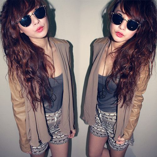 tumblr rock style girl