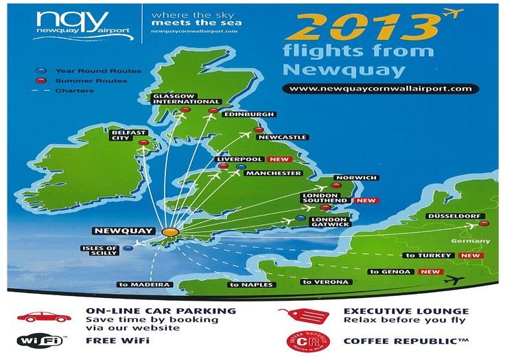 FLIGHTS FROM NEWQUAY AIRPORT (2013) | Newquay, Cornwall     ✫ღ⊰n