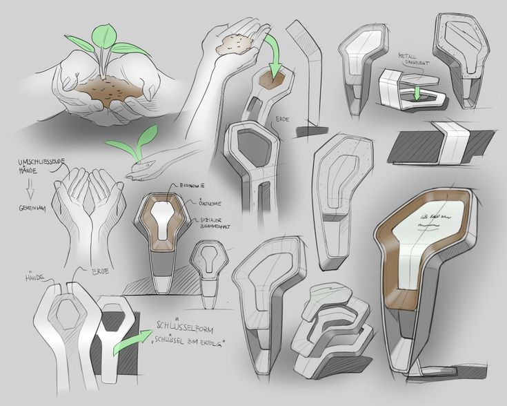 Trophy Design concept sketch