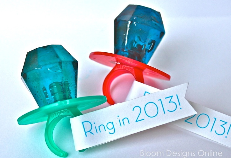 """""""Ring In first grade"""" - using ring pops for New school year"""