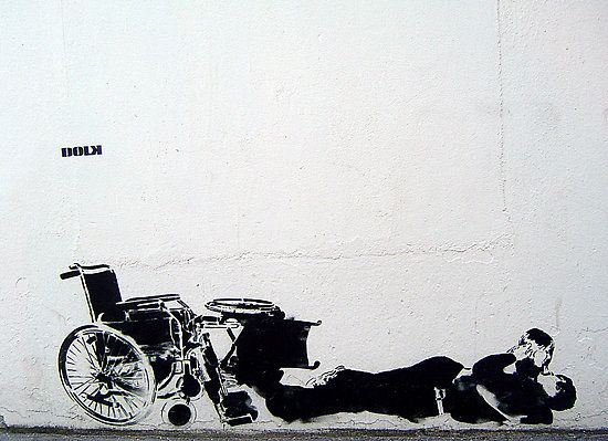 #streetart #handicap #wheelchair #fauteuil #art