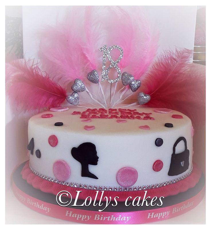 18th ladies birthday cake