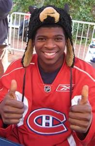 P.K. Subban, great hockey player -  defenceman for The Montreal Canadiens.
