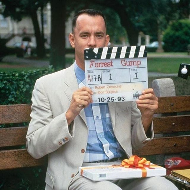""". """"Mama always said life is like a box of chocolates. You never know what you're gonna get."""" -#ForrestGump Facts: In October 1994, cult classics Jurassic park, Forrest Gump, Pulp Fiction and The Shawshank Redemption were all playing in theaters at the same time.The line,""""My name is Forrest Gump. People call me Forrest Gump,""""considered as one of the iconic lines from the movie was thought up spontaneously by Tom Hanks while shooting the scene. The director liked it so much he decided to…"""