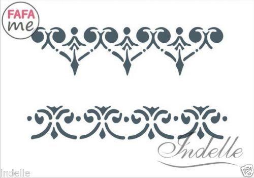 10-5-x-15-cm-a6-Bordo-Stencil-Riutilizzabile-Modello-Decoupage-CRAFT-mobili-fai-da-te