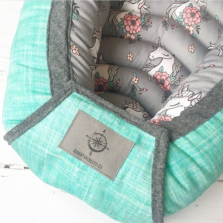 Unicorn baby toddler nest travel bed for toddler and children