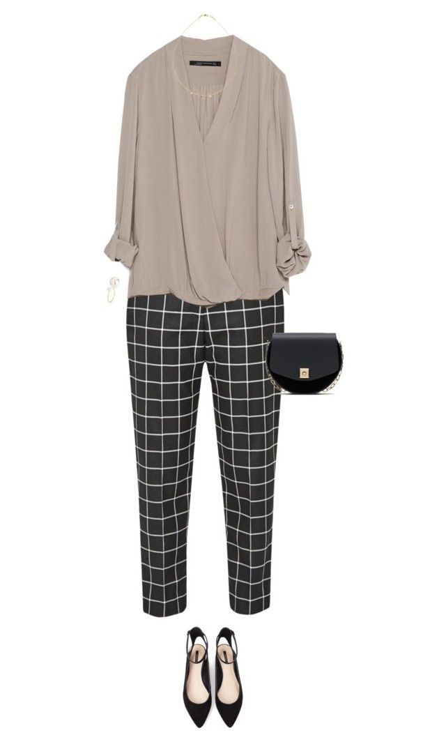 """Conference outfit"" by portrait-of-a-girl ❤ liked on Polyvore featuring Great Plains, Zara, Forever 21 and H&M"