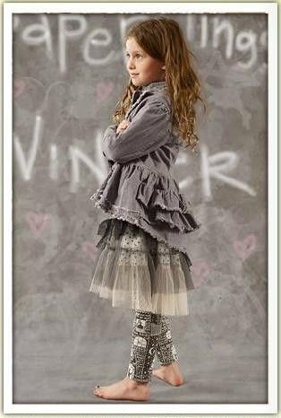 Paper Wings Charcoal Bustle Denim Jacket Size 8 - The Crooked Little Path