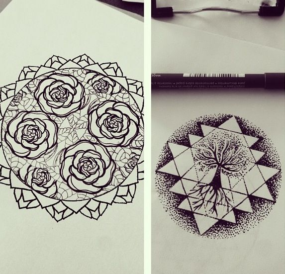 Hannah Snowdon geometric rose, absolutely freakin love.