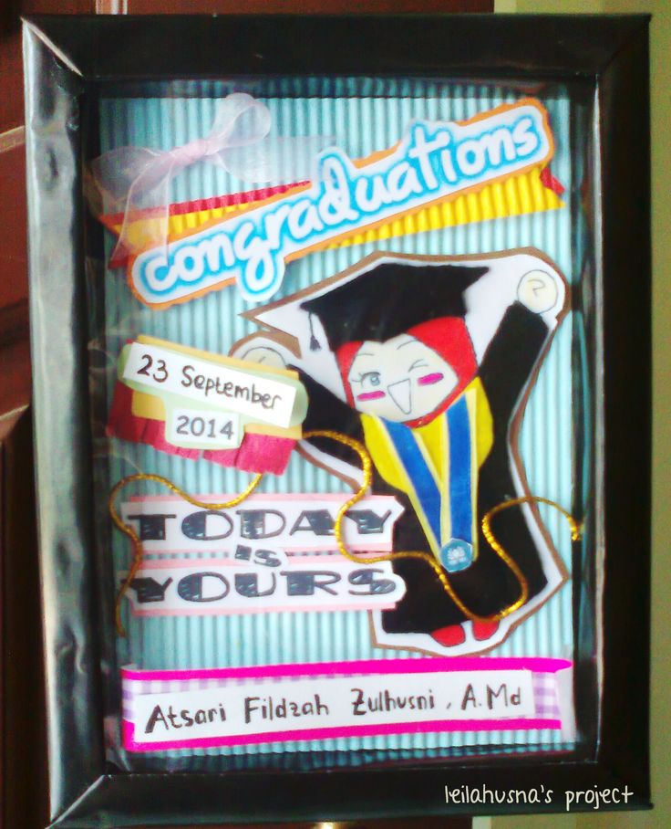 Graduation Box (using styrofoam frame handmade)