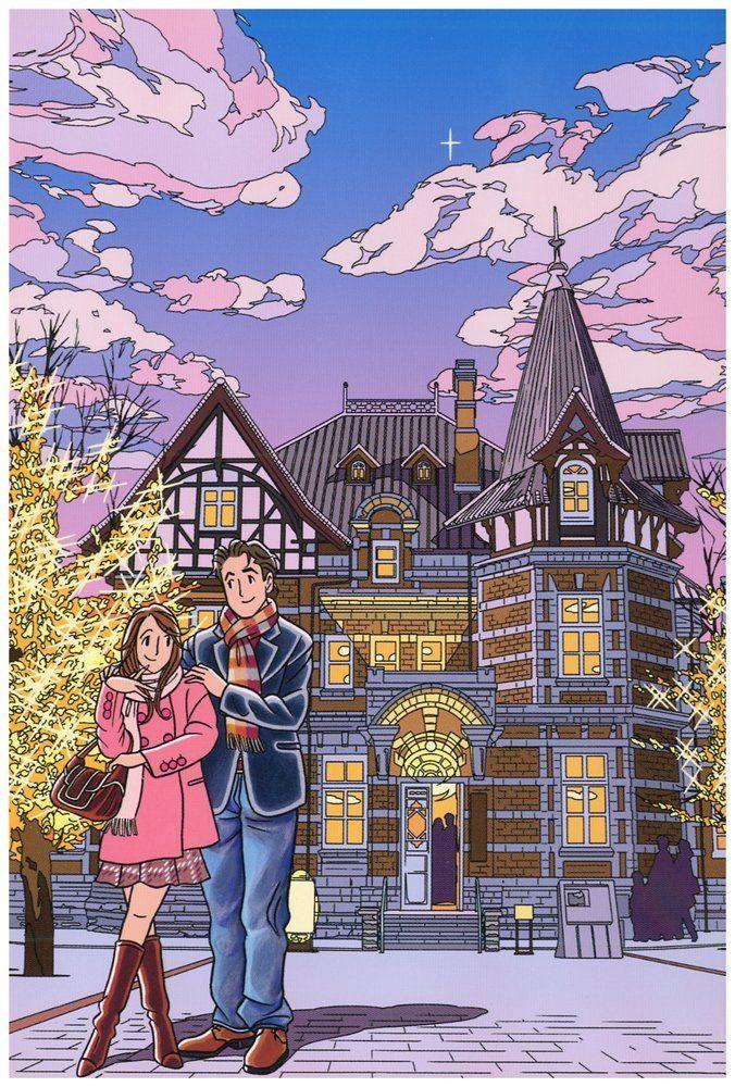 Amazon.co.jp: わたせせいぞう ポストカード 『ヴィーナスの煌くとき』(W09013K): 文房具・オフィス用品
