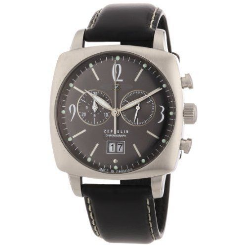 Zeppelin-Mens-Mediterranean-Chronograph-Watch-77842-with-Cushion-Shaped-Case-an