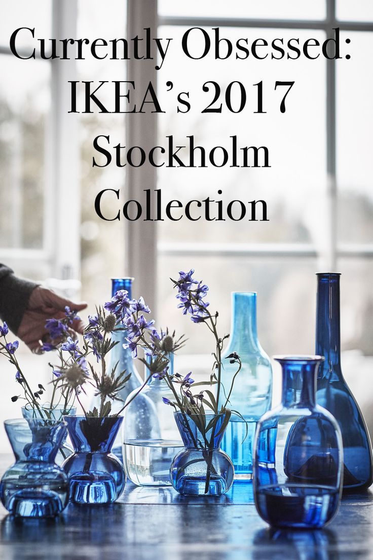 Currently Obsessed: IKEA's 2017 Stockholm Collection Interior Design | Blue Glass | Vase | Blue Vase | Dish | Serving Dish | Blue | Home Accessory | Home Interior | Interior Decorating | Home Decor