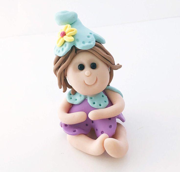 Pink Garden Fairy, Fairy, Miniature Fairy, Fairy Cake Topper, Fairy Figurine, Fairy Garden Accessory, Fairy Garden Decor, Polymer Clay by WeeBitCuckoo on Etsy https://www.etsy.com/listing/503070540/pink-garden-fairy-fairy-miniature-fairy
