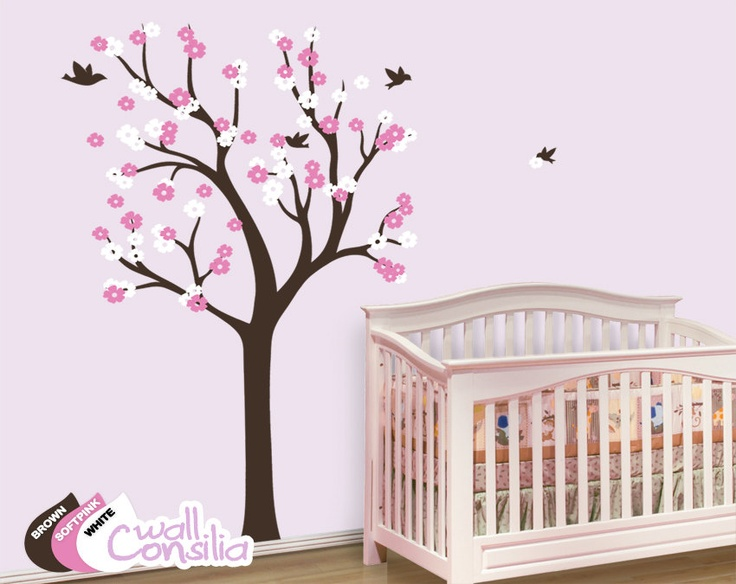 Nursery Tree Wall Decal Wall Sticker $69.00, via Etsy