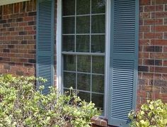 How to Install Vinyl Shutters on Brick
