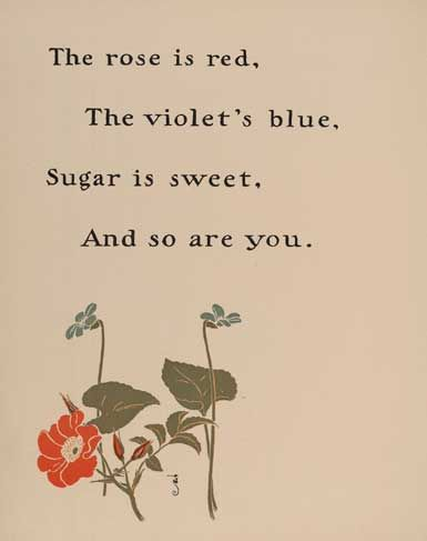 Where does the rhyme 'Roses are Red' come from?
