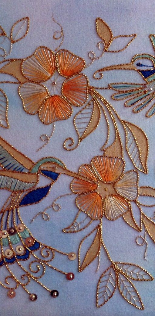 Goldwork Hummingbirds