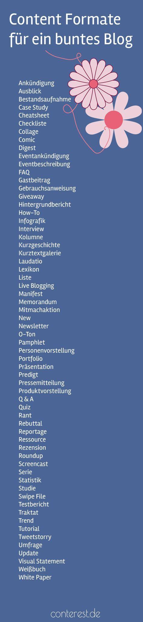 61 Content Formate mit denen du dein Blog garantiert bunt & abwechslungsreich machst
