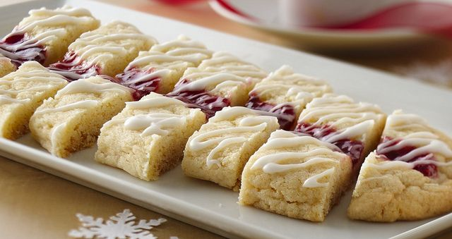 Raspberry Ribbon Slices Recipe, super easy using a cookie mix!