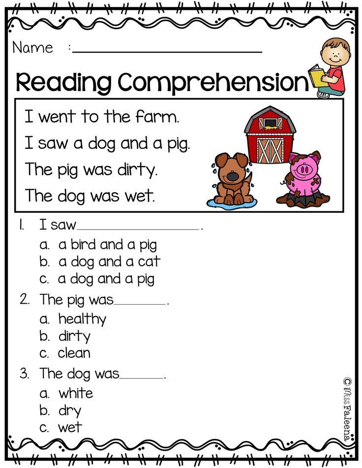 Free Reading Comprehension Reading Comprehension Kindergarten, Kindergarten  Reading, Preschool Reading