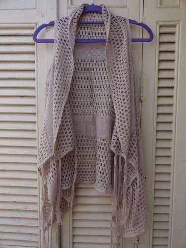 INPIRAÇÃO  Colete Kimono Tricot Longo Franja Inverno Crochê Blogueiras