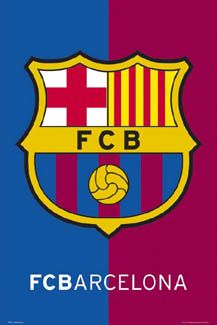 FC Barcelona OFFICIAL SHIELD Soccer Football Logo Poster ~Available at www.sportsposterwarehouse.com