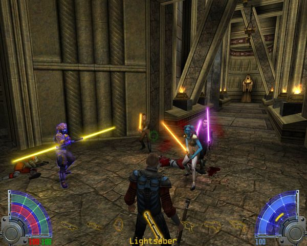 Star Wars Jedi Knight: Jedi Academy... Oh my gosh, this was the best game ever!!! Building your own lightsaber... Awesome