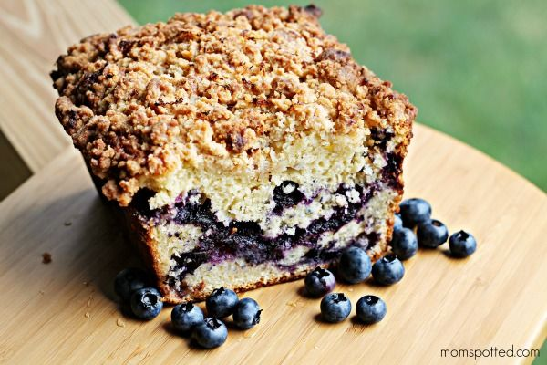 Blueberry Streusel Bread #Recipe