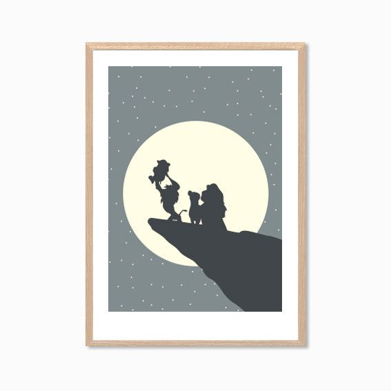 DISNEY Simba and / or Family Poster Lion by SealDesignStudio