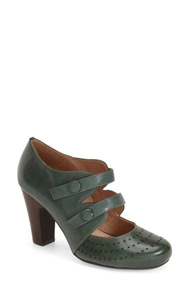 Free shipping and returns on Miz Mooz 'Judy' Mary Jane Pump (Women) at Nordstrom.com. Double mary-jane straps and geometric perforations bring suave vintage style to a finely grained leather pump set on a stacked column heel.