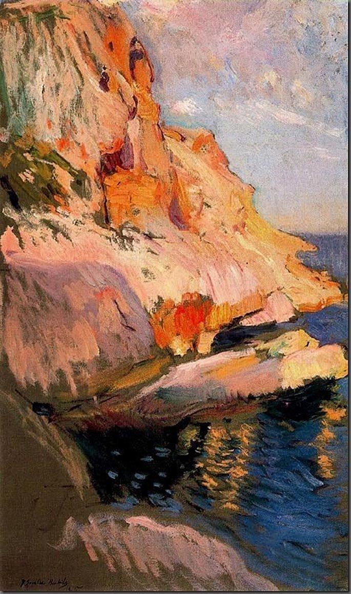 Cave at San Antonio, Javea - Joaquin Sorolla y Bastida - 1905