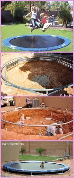 DIY In-Ground Sunken Trampoline Tutorial