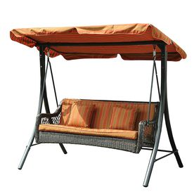 3-Seat Steel Traditional Porch Swing
