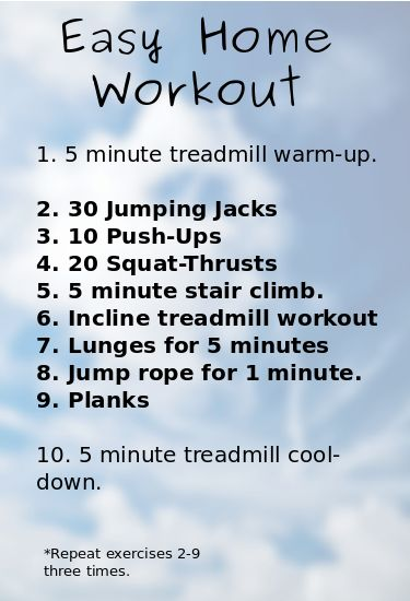 Treadmill daily workout plan daily workout routine Easy home design software for beginners