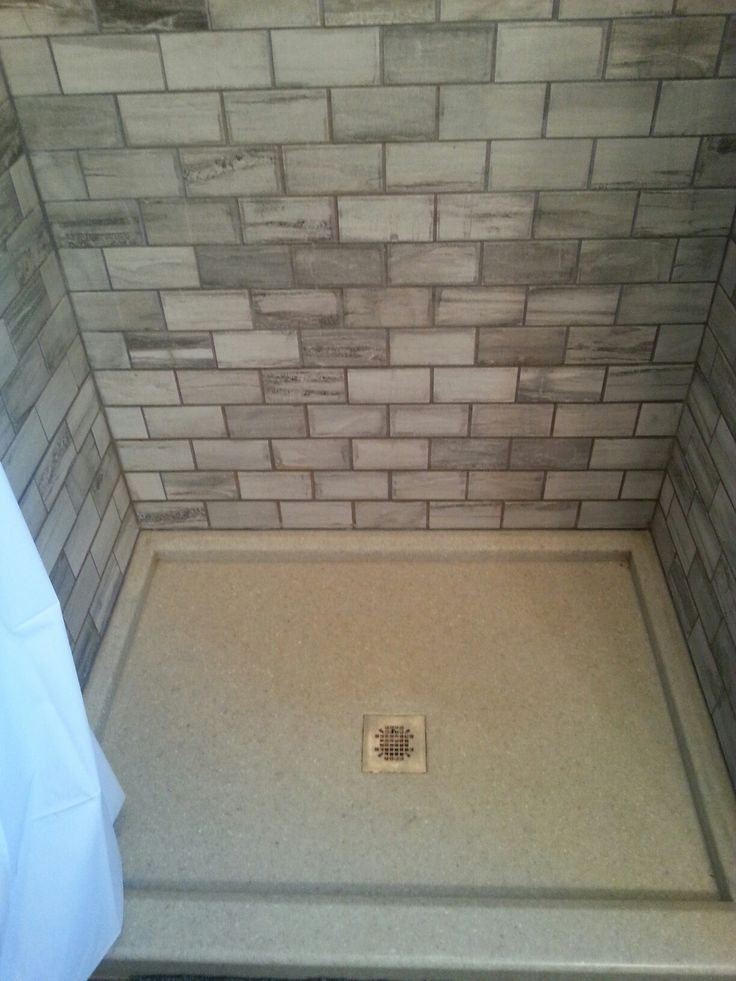 """Stone 3"""" x 6"""" tile. Onyx shower pan to ensure a solid base"""
