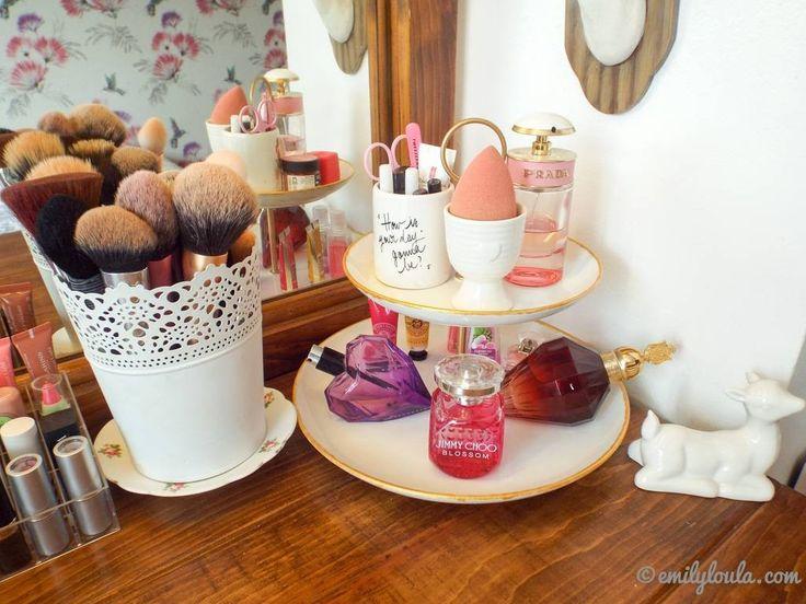 My Makeup Storage & Dressing Table Set Up   emilyloula