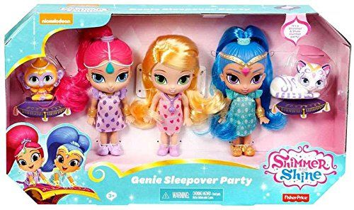 Shimmer and Shine Toys - Sleepover slumber party Shimmer and Shine doll set.