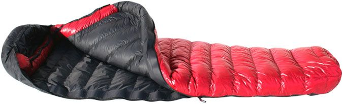 Western Mountaineering Alpinlite - Ultralite has been a favorite among lightweight backpackers for more than a decade. The Alpinlite is just a wide version of that great bag. $480