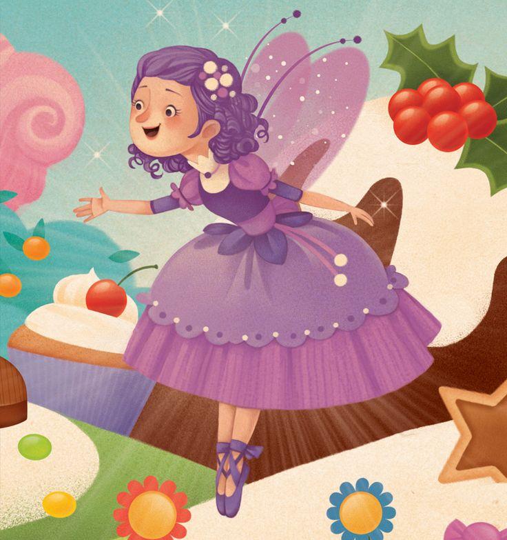 A sweet Sugar Plum Fairy in The Nutcracker in Storytime's Christmas Issue! Art by Gaia Bordicchia (http://www.gaiabordicchia.com) ~ STORYTIMEMAGAZINE.COM