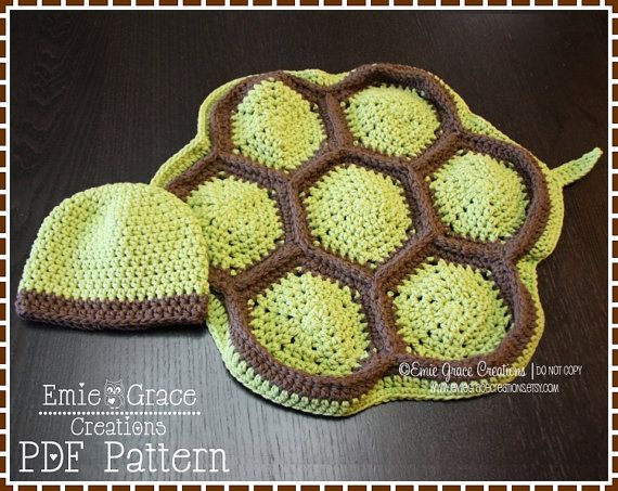 Crochet Turtle Pattern, Hat and Cape Costume, TITUS and TARYN TURTLE - pdf 711 on Etsy, $4.99