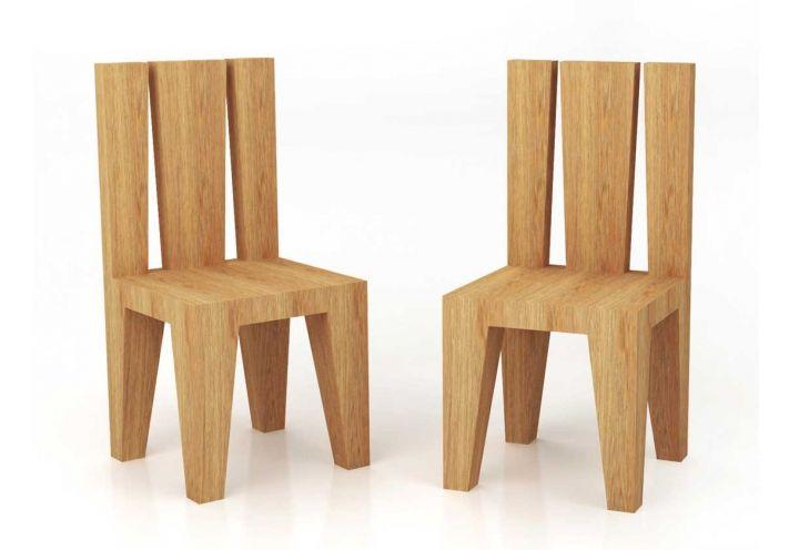 Sedia in legno massiccio di rovere trattato con olio a base naturale, design Doriana e Massimiliano Fuksas per Itlas.Il contributo dei Fuksas arricchisce la collezione dei Massivi di Itlas, presentata in occasione del Salone del Mobile 2014