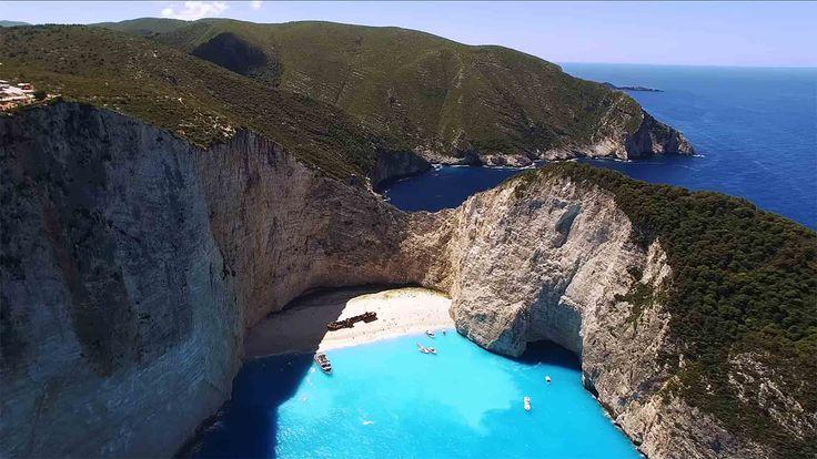 Amazing Zakynthos Drone Travel 4K